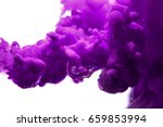 purple ink in water isolated on ... | Shutterstock . vector #659853994