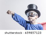 boy superhero isolated on a... | Shutterstock . vector #659857123