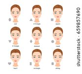 female face types. women with... | Shutterstock . vector #659857690