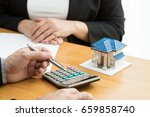 mortgage home | Shutterstock . vector #659858740