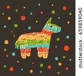 vector hand drawn illustration... | Shutterstock .eps vector #659859040