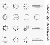 set of loading icons | Shutterstock .eps vector #659859904