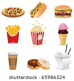 fast food icons | Shutterstock .eps vector #65986324
