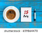july 15th. day 15 of month ... | Shutterstock . vector #659864470