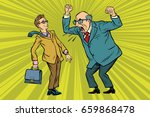 boss scolds businessman....   Shutterstock .eps vector #659868478