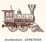 engraved vintage  hand drawn ... | Shutterstock .eps vector #659870434