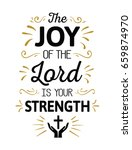 the joy of the lord is my... | Shutterstock .eps vector #659874970