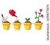 green plant flower  graphic...   Shutterstock .eps vector #659877874