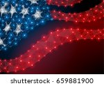 abstract polygonal flag us... | Shutterstock . vector #659881900
