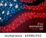 vector abstract polygonal flag... | Shutterstock .eps vector #659881933