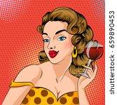 vector design of pop art style...   Shutterstock .eps vector #659890453