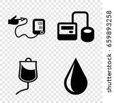 blood icons set. set of 4 blood ...   Shutterstock .eps vector #659893258