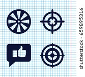 set of 4 aim filled icons such... | Shutterstock .eps vector #659895316