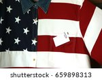 Shirt with usa flag pattern as...