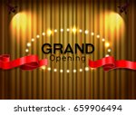 grand opening cutting red... | Shutterstock .eps vector #659906494