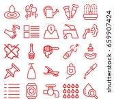 Drop Icons Set. Set Of 25 Drop...