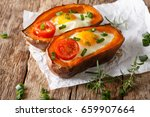 nourishing food  stuffed sweet... | Shutterstock . vector #659907664