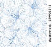 floral seamless pattern. flower ... | Shutterstock .eps vector #659908543