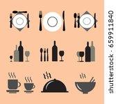 restaurant icon set | Shutterstock .eps vector #659911840