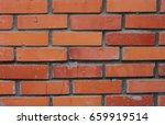 old brick wall  grunge texture...   Shutterstock . vector #659919514