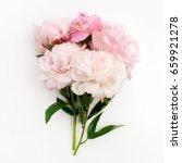 Beautiful Pink Peonie Flower O...