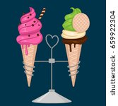 cute ice cream design. vector... | Shutterstock .eps vector #659922304