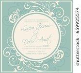 wedding design template with... | Shutterstock .eps vector #659925574