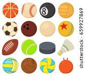 sport balls icons set play... | Shutterstock .eps vector #659927869