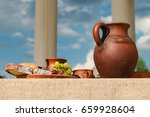 classic antique still life with ... | Shutterstock . vector #659928604