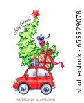 winter holidays illustration.... | Shutterstock . vector #659929078
