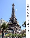 Stock photo eiffel tower las vegas 659931388