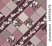 vector abstract seamless... | Shutterstock .eps vector #659935678