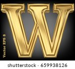 vector letter w from gold solid ... | Shutterstock .eps vector #659938126