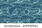 seamless pattern with hand... | Shutterstock .eps vector #659940964