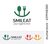 smile eat logo  happy food ... | Shutterstock .eps vector #659948380