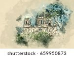 sights france. photo sketches.... | Shutterstock . vector #659950873