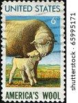 usa   circa 1965  a stamp... | Shutterstock . vector #65995171