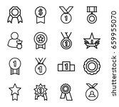 medal icons set. set of 16... | Shutterstock .eps vector #659955070