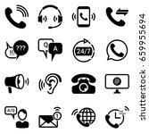 set of simple icons on a theme... | Shutterstock .eps vector #659955694