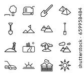 landscape icons set. set of 16... | Shutterstock .eps vector #659958484