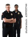 Small photo of Police: Officer Partners Standing Together