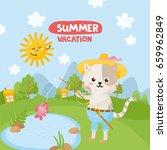 summer vacation  cute little... | Shutterstock .eps vector #659962849