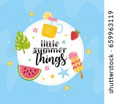 """little summer things"" greeting ... 