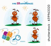find 10 differences. cartoon... | Shutterstock .eps vector #659963320