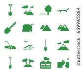 landscape icons set. set of 16... | Shutterstock .eps vector #659965384