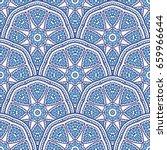 seamless oriental ornamental... | Shutterstock .eps vector #659966644