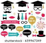 graduation party vector design... | Shutterstock .eps vector #659967349