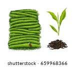drawings on tea themes  tea... | Shutterstock .eps vector #659968366