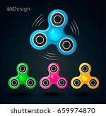 set of fidget spinner icons.... | Shutterstock .eps vector #659974870