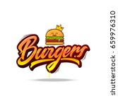 burgers vector lettering logo... | Shutterstock .eps vector #659976310